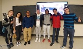 Biophysics Club President, Nader Allam (far right), and the remaining attendees after the 4 hour event!