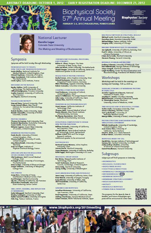 Biophysical Society 2013 Annual Meeting Poster