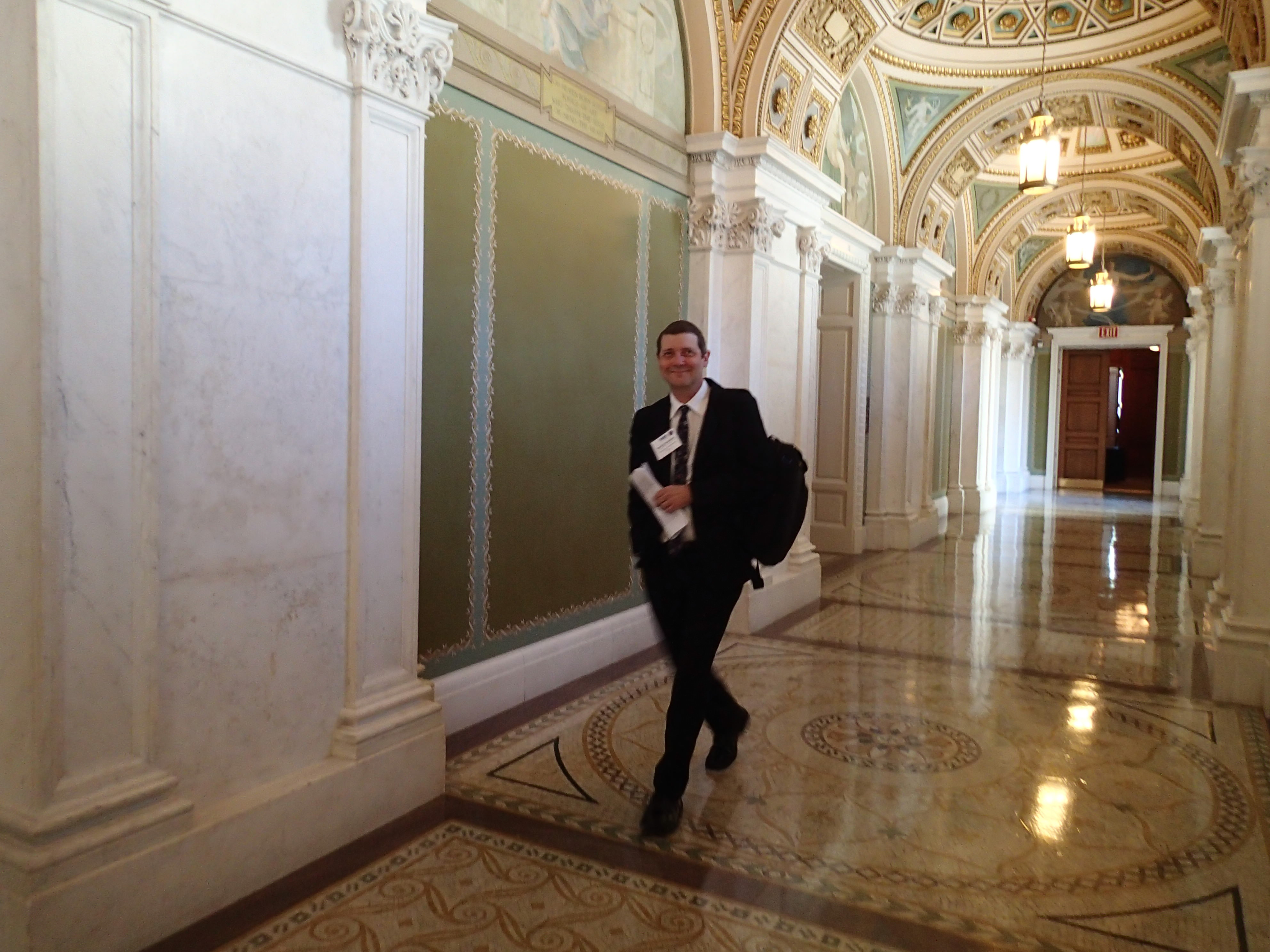 Randy Wadkins, BPS's 2016-17 Congressional Fellow, in the Halls of Congress.