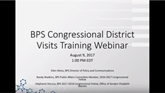 BPS Congressional District Visit Training,...