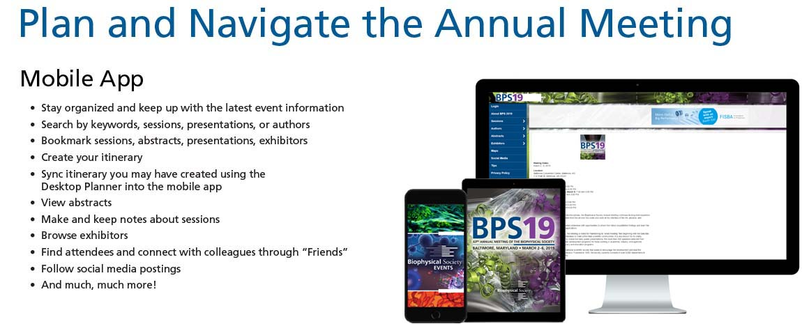 The Biophysical Society > Meetings & Events > Annual Meeting